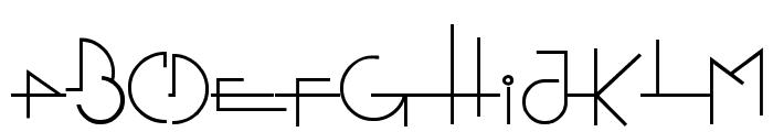Stretched Signature Flex Font UPPERCASE