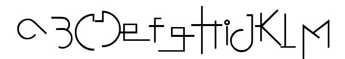 Stretched Signature Flex Font LOWERCASE