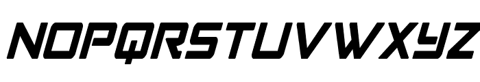 Strike Fighter Condensed Italic Font LOWERCASE