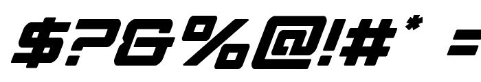 Strike Fighter Super-Italic Font OTHER CHARS