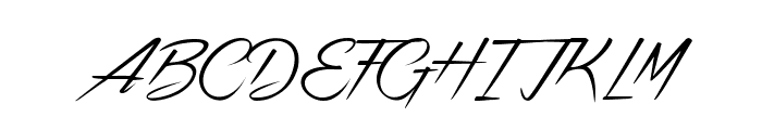 Strikeyour Path Font UPPERCASE