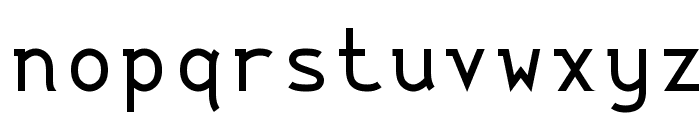 String Literal Medium Font LOWERCASE
