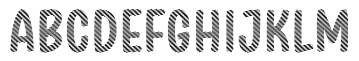 Stripe October Seven Font UPPERCASE