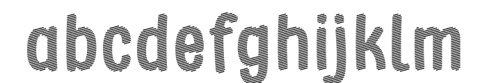 Stripe October Seven Font LOWERCASE