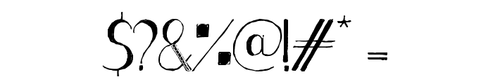 Stripe black Font OTHER CHARS