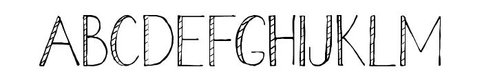 Stripe Font UPPERCASE