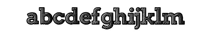StripeAttack Font LOWERCASE