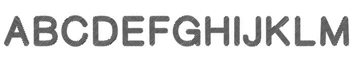 Stripy-Reg Font UPPERCASE