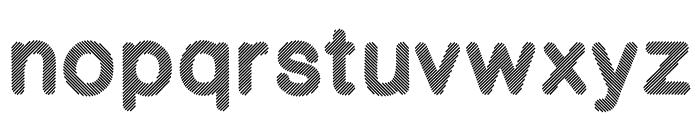 Stripy-Reg Font LOWERCASE