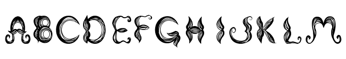 Stroke mustache Font UPPERCASE