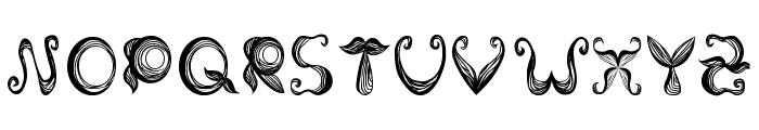 Stroke mustache Font LOWERCASE