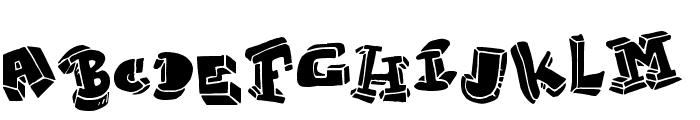 Strokeless Font UPPERCASE