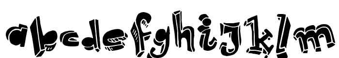 Strokeless Font LOWERCASE