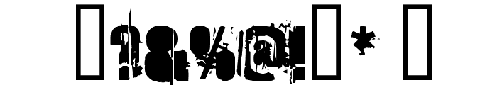 StrokeyBacon Font OTHER CHARS