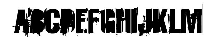 StrokeyBacon Font UPPERCASE