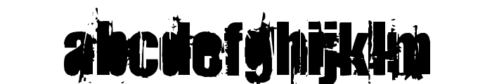 StrokeyBacon Font LOWERCASE