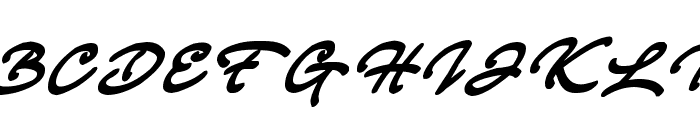 Strong Smooth Script Font UPPERCASE