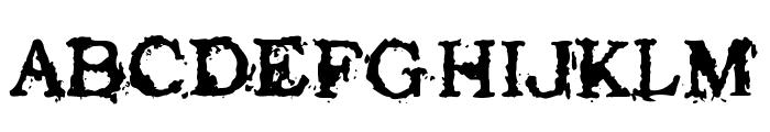Struck Dead Font UPPERCASE