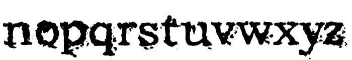 Struck Dead Font LOWERCASE