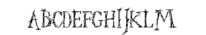 Struct-destruct Serif 3.2 Regular Font UPPERCASE