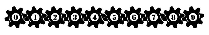 Stucked in Gears Font OTHER CHARS