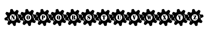 Stucked in Gears Font LOWERCASE