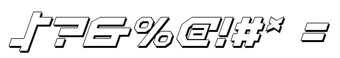 Stuntman Shadow Italic Font OTHER CHARS