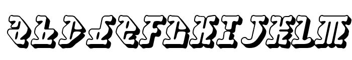 Stupefaction 3D Font LOWERCASE