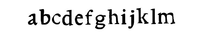 Stupid Medium Font LOWERCASE