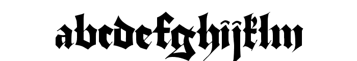 Stuttgart Gothic Demo Font LOWERCASE