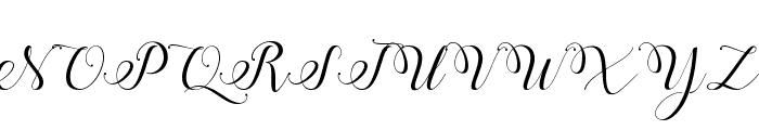 Stylish Calligraphy Demo Font UPPERCASE