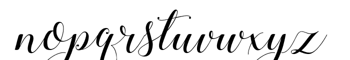 Stylish Calligraphy Demo Font LOWERCASE