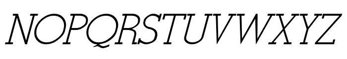 Stymie-Italic Italic Font UPPERCASE