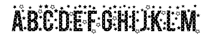 stars TFB Font LOWERCASE