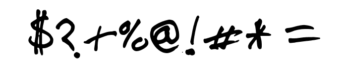 steelgohsts handwriting Font OTHER CHARS