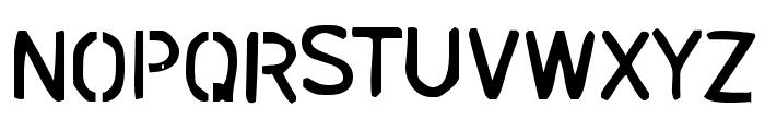 stencil bash Font UPPERCASE