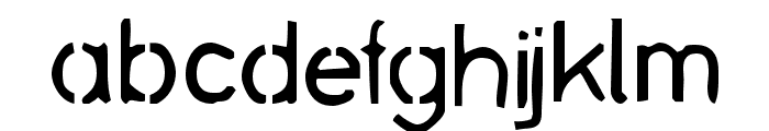 stencil bash Font LOWERCASE