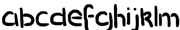 stencil pencil Font LOWERCASE