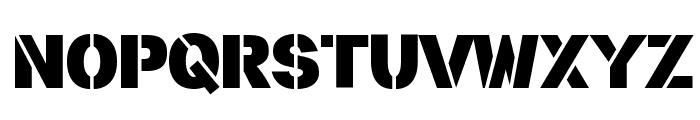 stencilla Font UPPERCASE