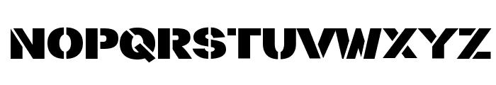 stencilla Font LOWERCASE