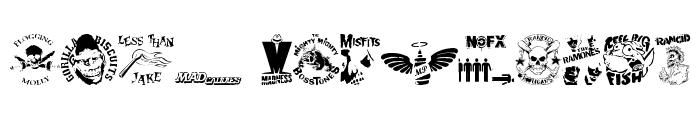 stencilpunks band logos 0001 Font UPPERCASE