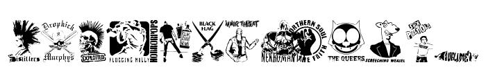 stencilpunks band logos 0001 Font LOWERCASE