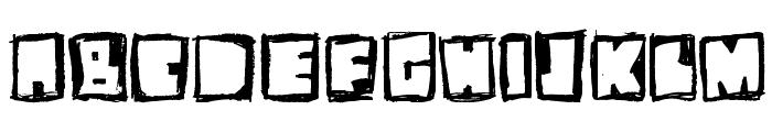 stiff neck Font UPPERCASE