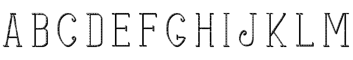 stitches shadow Font LOWERCASE