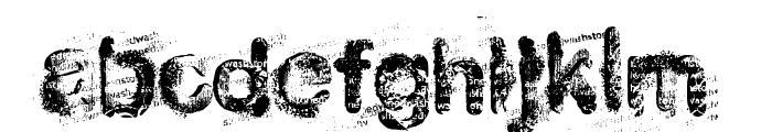 stoned wash 6 Font LOWERCASE
