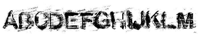 stoned wash Font UPPERCASE