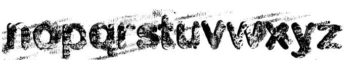 stoned wash Font LOWERCASE