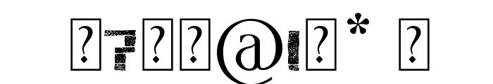 stonehenge Font OTHER CHARS