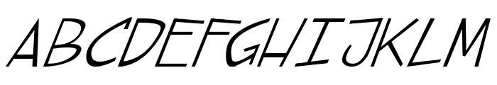 street cred Italic Font UPPERCASE