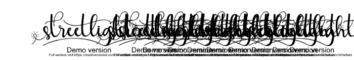 streetlightdemoversion-script Font OTHER CHARS